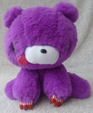 Official Chax GP TAITO Gloomy Bear Purple Sitting Soft Plush Toy Japan Kawaii 9""
