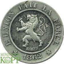 Y410) Belgien Leopold I., 1830-1865 10 Centimes 1862