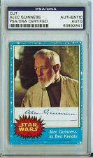 RARE 1977 STAR WARS PSA/DNA signed Alec Guinness Autograph Obi Wan Carrie Fisher