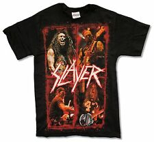 """SLAYER """"FOUR PHOTOS"""" BLACK T-SHIRT NEW METAL BAND MUSIC OFFICIAL ADULT SMALL"""