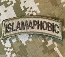 ISLAMAPHOBIC US ARMY TAB ROCKER USA INFIDEL MORALE MULTICAM VELCRO PATCH