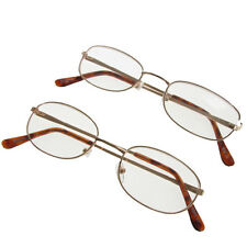 Unisex Reading Glasses Boyz Toys Metal Frame Spectacles Light Gold +1.00