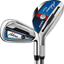 Adams Golf Blue Combo Hybrid Iron Set (#3h-#4h, 5-PW) Stiff Flex Shafts