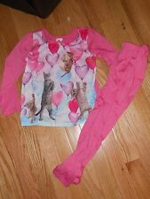 NWT - Childrens Place 2pc pink kitties long sleeved pajamas - 4T girls