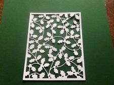 10 x Die cuts HOLLY BACKGROUND **FREE POSTAGE***