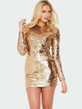 ICONIC BNWT 6 FRENCH CONNECTION GOLD BRONZE FAST LUST SEQUIN BODYCON DRESS