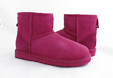 UGG Classic Mini Exotic Scales Tropical Sunset Pink Fur Boots Size 7 *NEW*