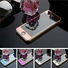 Front Mirror Effect Tempered Glass Screen Protector iPhone 5/5S/5C 6/6S 6+/6S+
