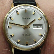 1960s Accurist GP ETA 2538 21 Jewel Gents Automatic Day Date Watch serviced