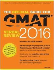 The Official Guide for GMAT Verbal Review 2016 with Online Question Ba-ExLibrary