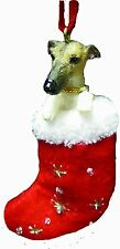Greyhound Brindle Santa's Little Pals Dog Christmas Ornament