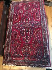 "OUTSTANDING Antique Persian Sarouk Hand Made Oriental Rug 27""X46""  CIRCIA 1920"