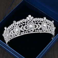 Wedding Bridal Crystal Rhinestone Headband Queen Crown Tiara Jewelry Silver Prom