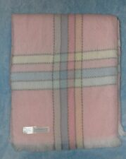 The Next Generation Baby Blanket Pink Stripe Acrylic Shawl Throw Made In Italy