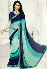Stylist Multi Color Printed Chiffon Saree with a Blouse D.No SK425