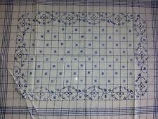 Blaudruck indisch blau Geschirrtuch Halbleinen 50 x 70 cm von Hand bedruckt