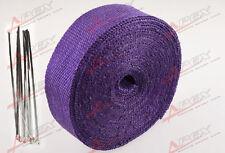"FIBERGLASS Exhaust Thermo Wrap Tape High Heat 2""x 50FT Cloth Roll PURPLE G"