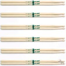 """(6) Pairs ProMark TXR5AW Hickory 5A """"The Natural"""" Wood Tip Drumsticks 6-Pack"""