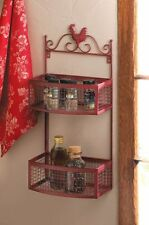 RED ROOSTER DOUBLE WALL RACK KITCHEN DECOR-10015876