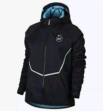 Nike Mens N7 Hybrid Hoodie Jacket Black Dark Turquoise 718972 010 Size Large