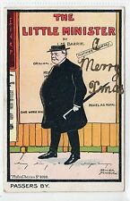 """THE LITTLE MINISTER"" by JM BARRIE: Theatre advertising postcard (C12884)"