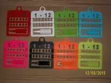 12 X NUMBERED SPLIT PLASTIC RINGS & APLICATOR FOR CANARIES 3MM