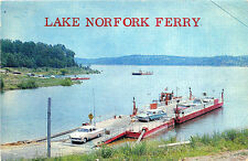Lake Norfolk AR Ferry Boat Note Old Cars Postcard