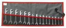 Facom 16pc Midget Open End Spanner Wrench Set in rolls 34.JL16T
