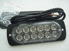 12v 24v AMBER RECOVERY STROBE 12 CREE LED LIGHTS ORANGE GRILL BREAKDOWN FLASHING