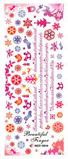 XXL One Stroke Sticker X-Mas Christmas Nicholas Angels Nailart UV Gel HOT001a
