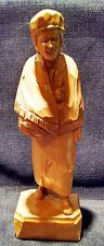 Vintage PAUL CARON Canada Artisan Hand Carved Wood Figure Man