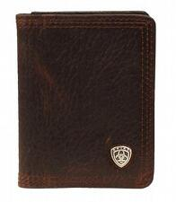Ariat Western Mens Wallet Leather Bifold Concho Brown Rowdy A35120282