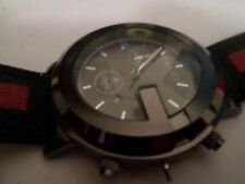 Gucci watch Green and red mens!!! swiss movement stainless steel.