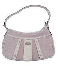 NINE WEST PINK WHITE SMALL SIGNS HOBO BAG