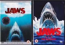 JAWS QUADRILOGY 1,2,3,4 [One,Two,Three, Four]  Revenge Shark Thriller DVD *EXC*