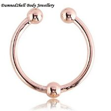 FAKE SEPTUM RING WITH BALL ~ ROSE GOLD PVD SURGICAL STEEL