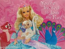 BARBIE Island Princess INVITATIONS (8) ~ Birthday Party Supplies Stationery Card
