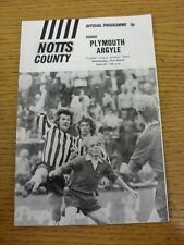 21/03/1973 Notts County v Plymouth Argyle  (Item In Good Condition)