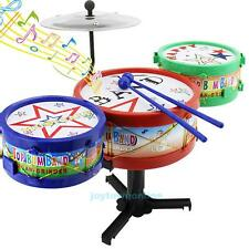 Rack Drum Jazz Drums Rock Set Kids Children Musical Instrument Toy Xmas Gift New