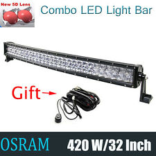 "OSRAM 5D Curved Led Work Light Bar Spot Flood 32""Inch 420W Offroad 4WD Truck ATV"