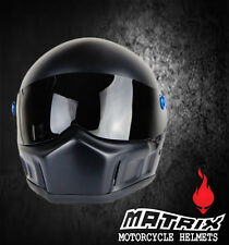 Matrix Ram Full Face Racing Fiberglass Motorcycle Helmet  Simpson bandit style