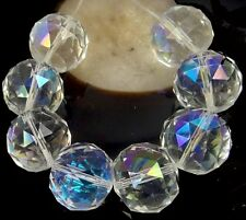 20mm Large Clear Glass Quartz Faceted Round Ball Focal Beads - AB