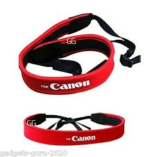 RED Neck Strap Soft Padded for Canon 5DM2 5DM3 6D 60D 70D 7D 1200D 600D