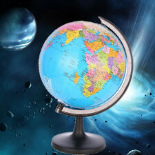 """3.5"""" World Globe Inflate Earth With Swivel Stand Ball Geography Educational Toy"""