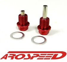AROSPEED MAGNETIC OIL & TRANSMISSION DRAIN PLUG SET FOR HONDA ACURA RED