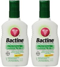 2 Pack Bayer Bactine Pain Relieving Cleansing Spray Infection Protection 5 oz
