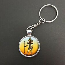 Dieu égyptien anubis pendentif sur un anneau fendu porte-clés idéal anniversaire cadeau N355