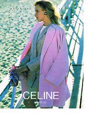 PUBLICITE ADVERTISING 074  1991  CELINE  veste manteau haute couture