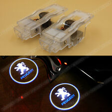 2x Ghost Shadow Light LED Projector Laser Door Welcome Courtesy Lamp for PEUGEOT