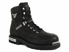 Harley Davidson BAKER Performance Mens Riding Lace Black Leather Boot US-9